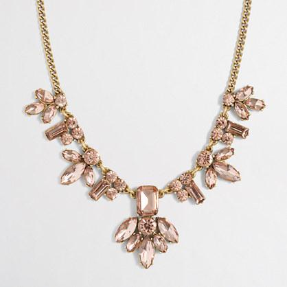 Crystal centerpiece necklace