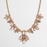 Crystal centerpiece necklace