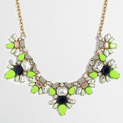 Factory double gemstone clusters necklace