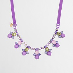 Factory girls' jeweled statement necklace
