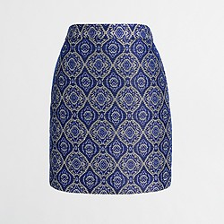 Factory jacquard mini skirt