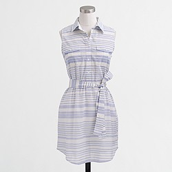 Factory striped sleeveless tunic