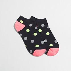 Factory two-tone dot tennie socks