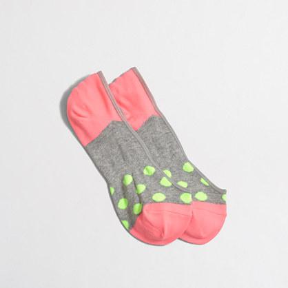 Polka-dot no-show socks