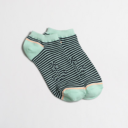 Hidden anchor striped tennie socks