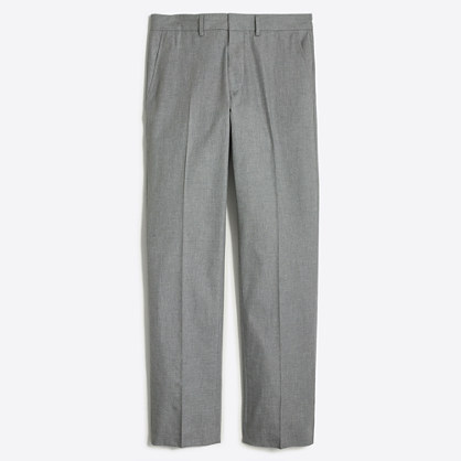 Slim Bedford heathered cotton pant