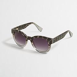 Factory leopard fade sunglasses