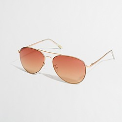 Factory aviator sunglasses