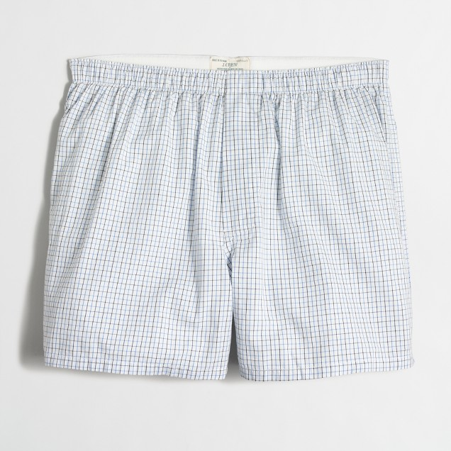 Two-color tattersall boxers