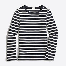 Factory girls' long-sleeve striped layering T-shirt