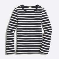 Girls' long-sleeve striped layering T-shirt