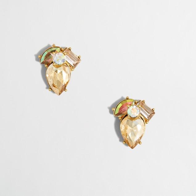 Crystal center earrings