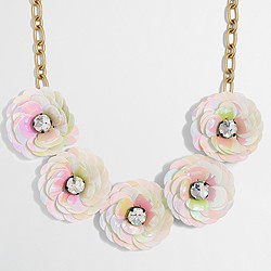 Factory sequin flower burst necklace