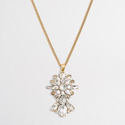 Stone icon pendant necklace