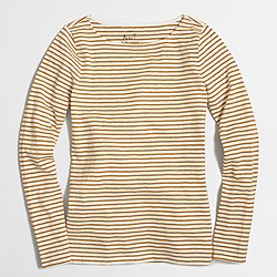 Metallic striped artist T-shirt