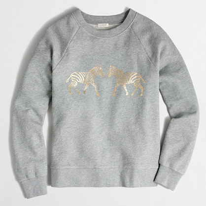 Metallic zebra sweatshirt
