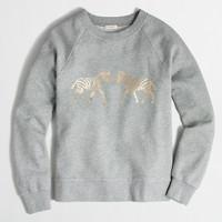Metallic zebra sweatshirt