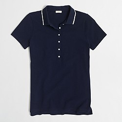 Factory tipped piqué polo shirt