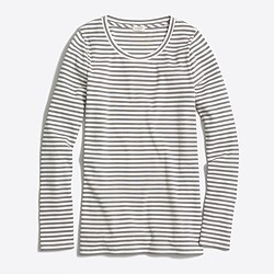 Striped ribbed long-sleeve T-shirt