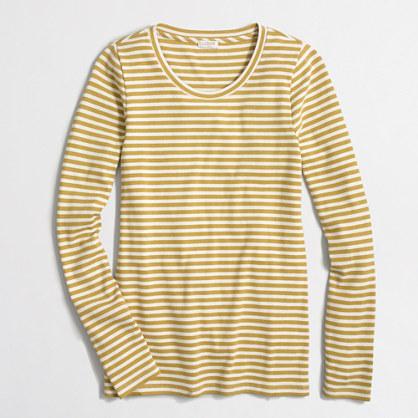 Striped ribbed long-sleeve T-shirt