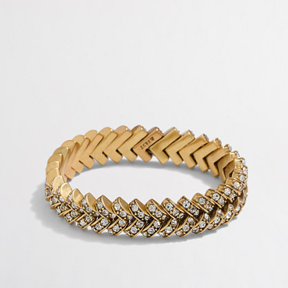Crystal basketweave bracelet