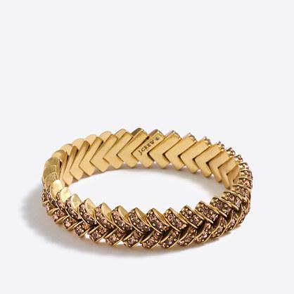 Crystal basketweave bracelet