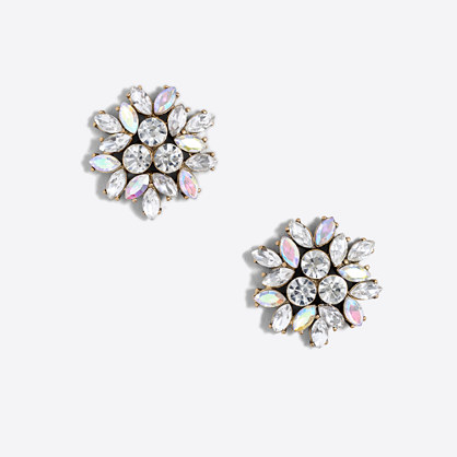 Crystal firework earrings