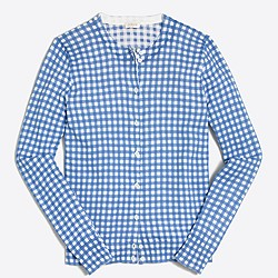 Factory gingham Caryn cardigan sweater
