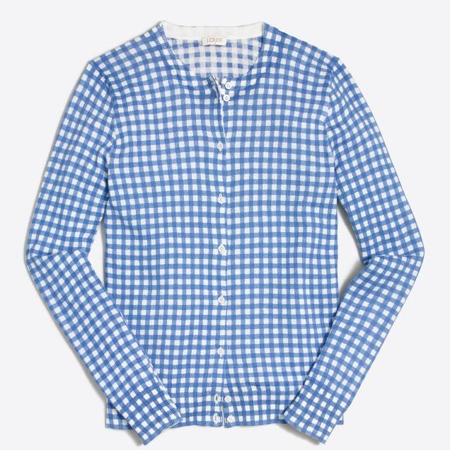 Gingham Caryn cardigan sweater