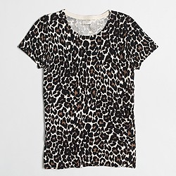 Short-sleeve leopard sweater
