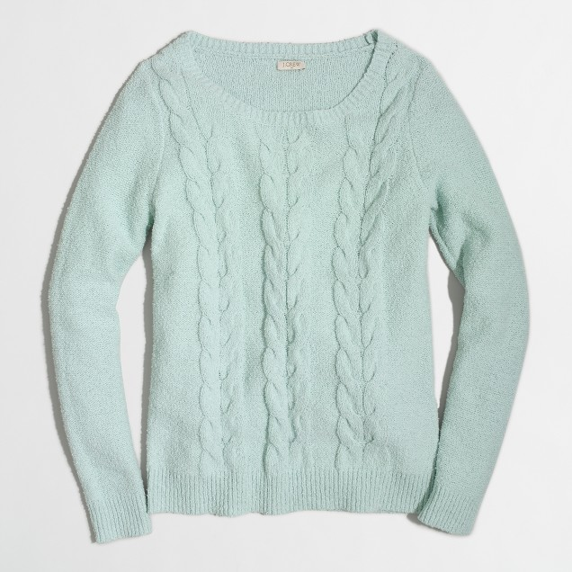 Cable scoopneck sweater