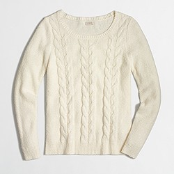 Factory cable scoopneck sweater