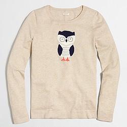 Intarsia owl Teddie sweater