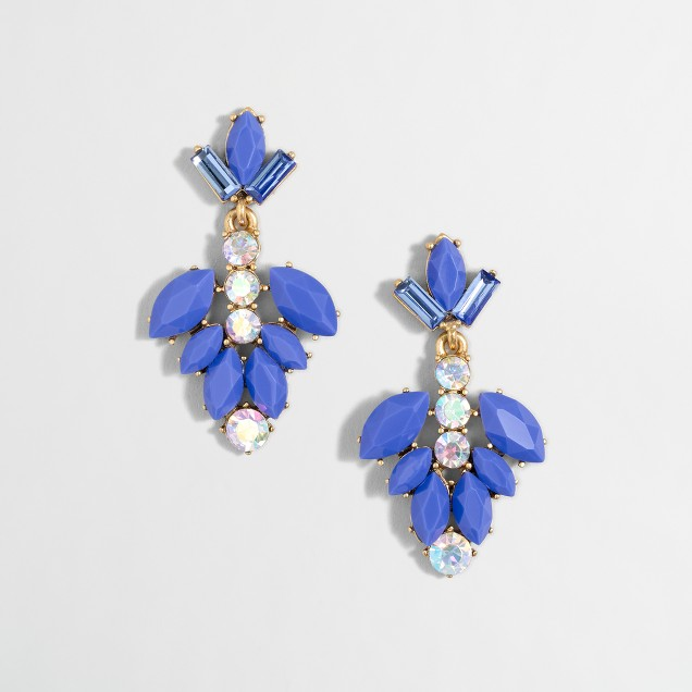 Gemstone blossom drop earrings