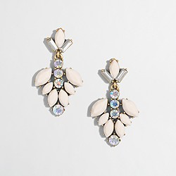 Factory gemstone blossom drop earrings