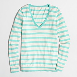 Factory striped V-neck sweater