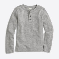Boys' long-sleeve ribbed henley