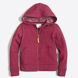 Boys' full-zip fleece hoodie