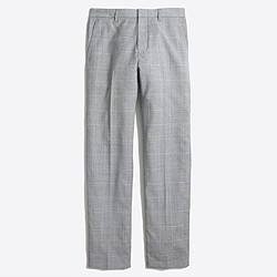 Factory slim Thompson suit pant in windowpane worsted wool