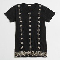 Geometric embroidered collector T-shirt