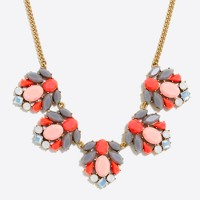 Mixed stone clusters necklace