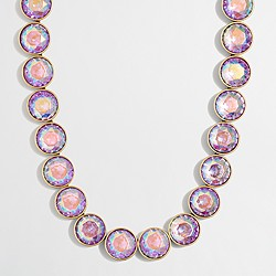 Factory iridescent crystal dots necklace