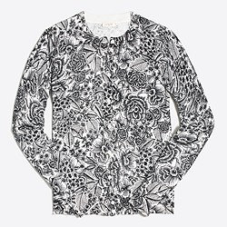 Factory graphic floral Caryn cardigan sweater