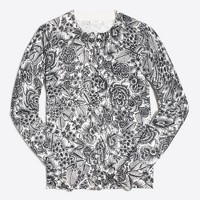 Graphic floral Caryn cardigan sweater