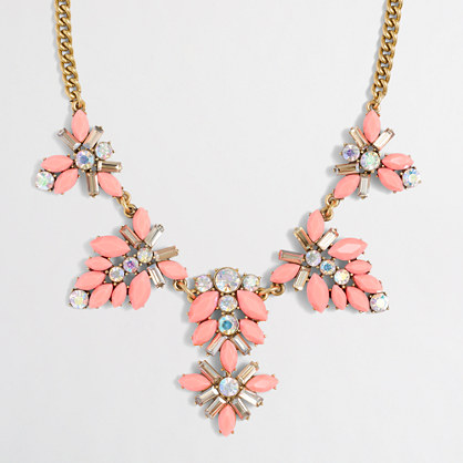 Gemstone blossoms necklace