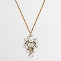 Crystal emblem pendant necklace
