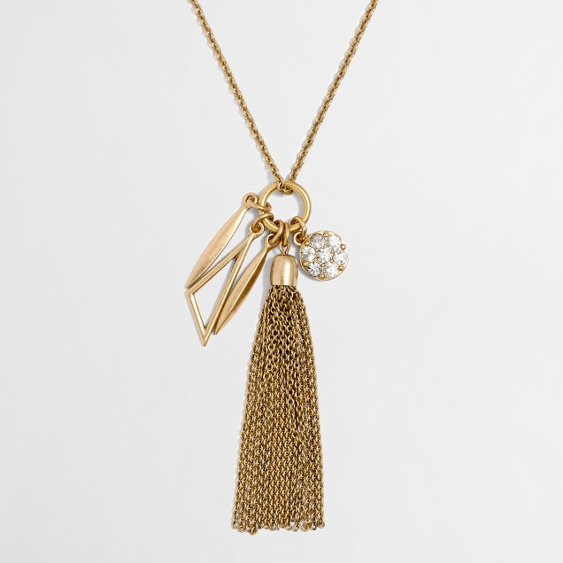 Tassel charms pendant necklace