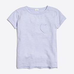 Girls' heart pocket T-shirt