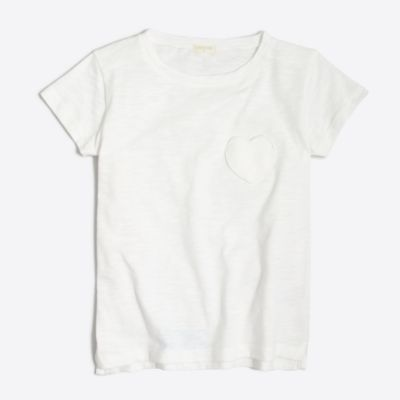 Girls' heart pocket T-shirt factorygirls made-for-play basics under $25 c
