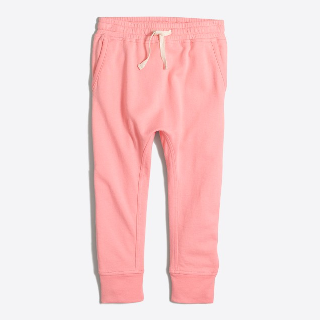 Girls' lightweight slim sweatpant
